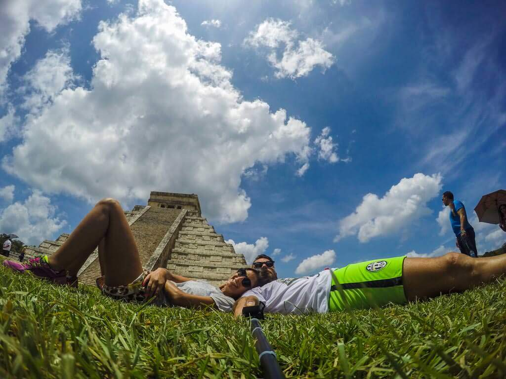Selfie davanti a El Castillo