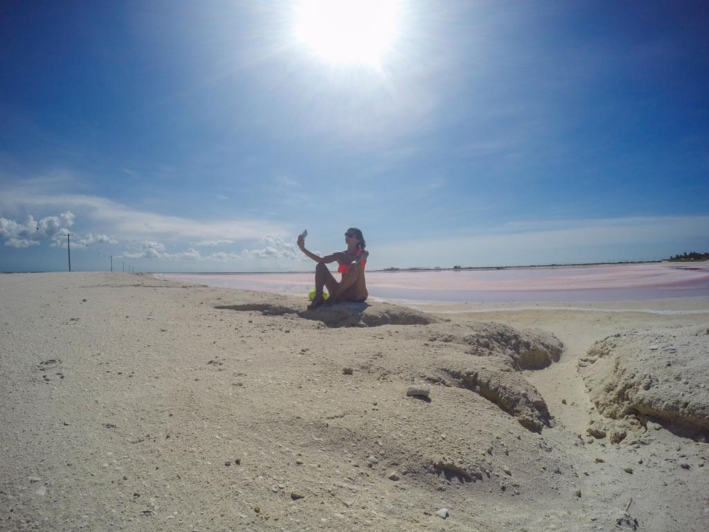 Selfie in rosa
