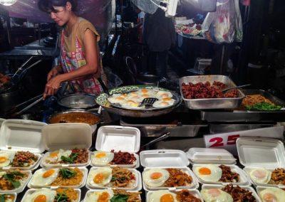 Street food in Bangkok, cibo tipico thailandese