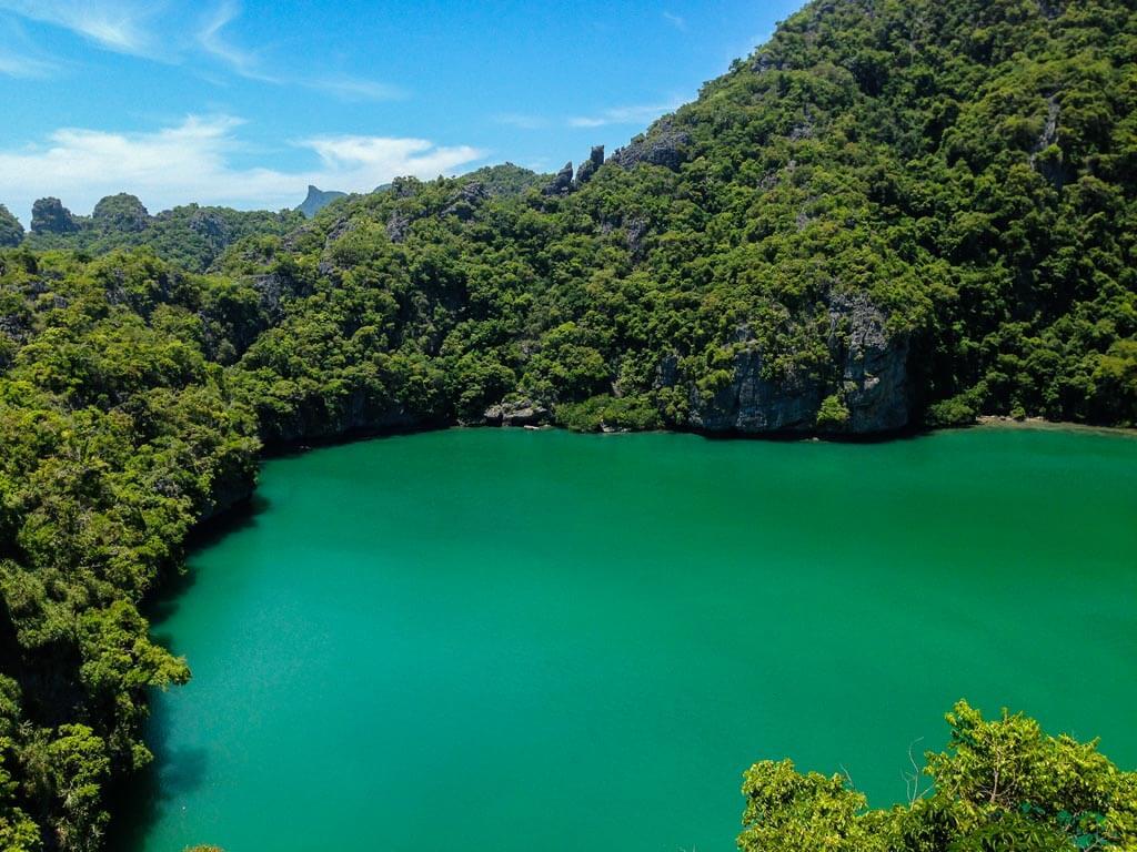 Emerald Lake sull'isola Mae Ko
