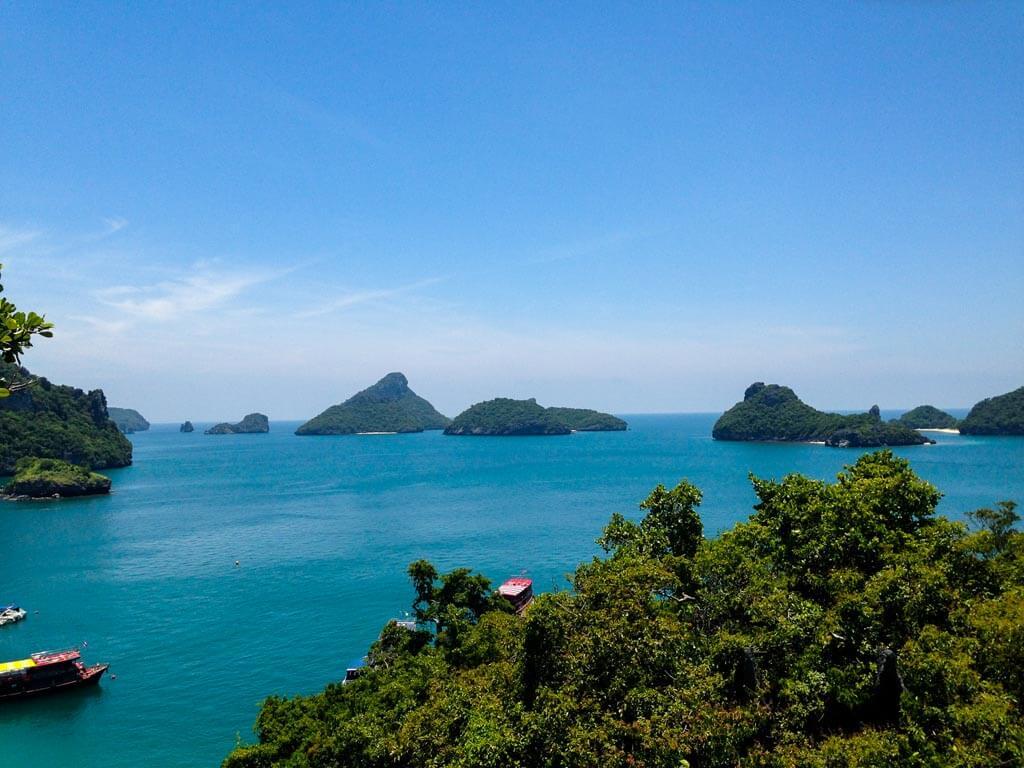 L' arcipelago di Ang Thong visto dall'alto