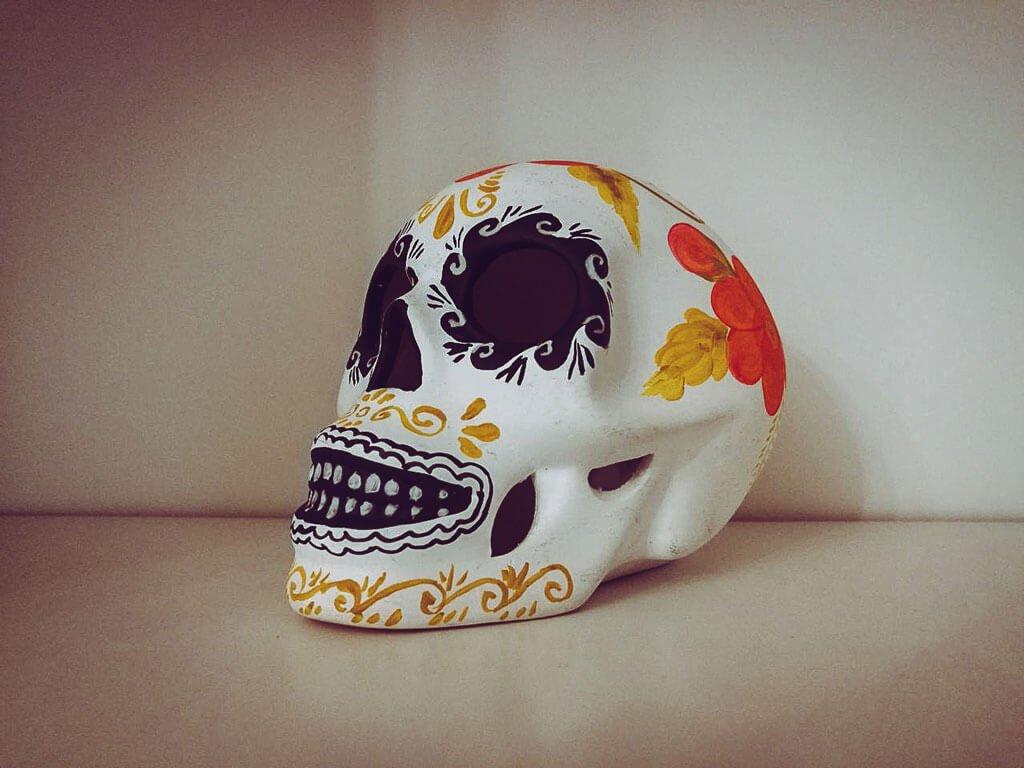 Teschio messicano fatto a mano