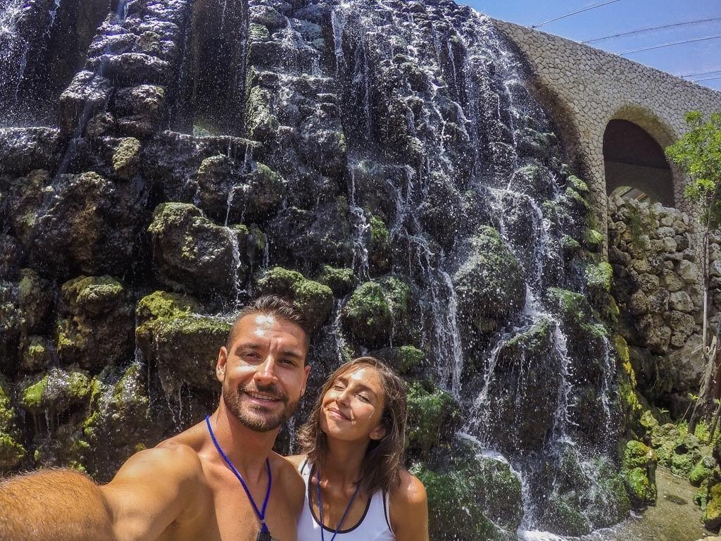 Xcaret parco divertimenti nella riviera maya - cascata
