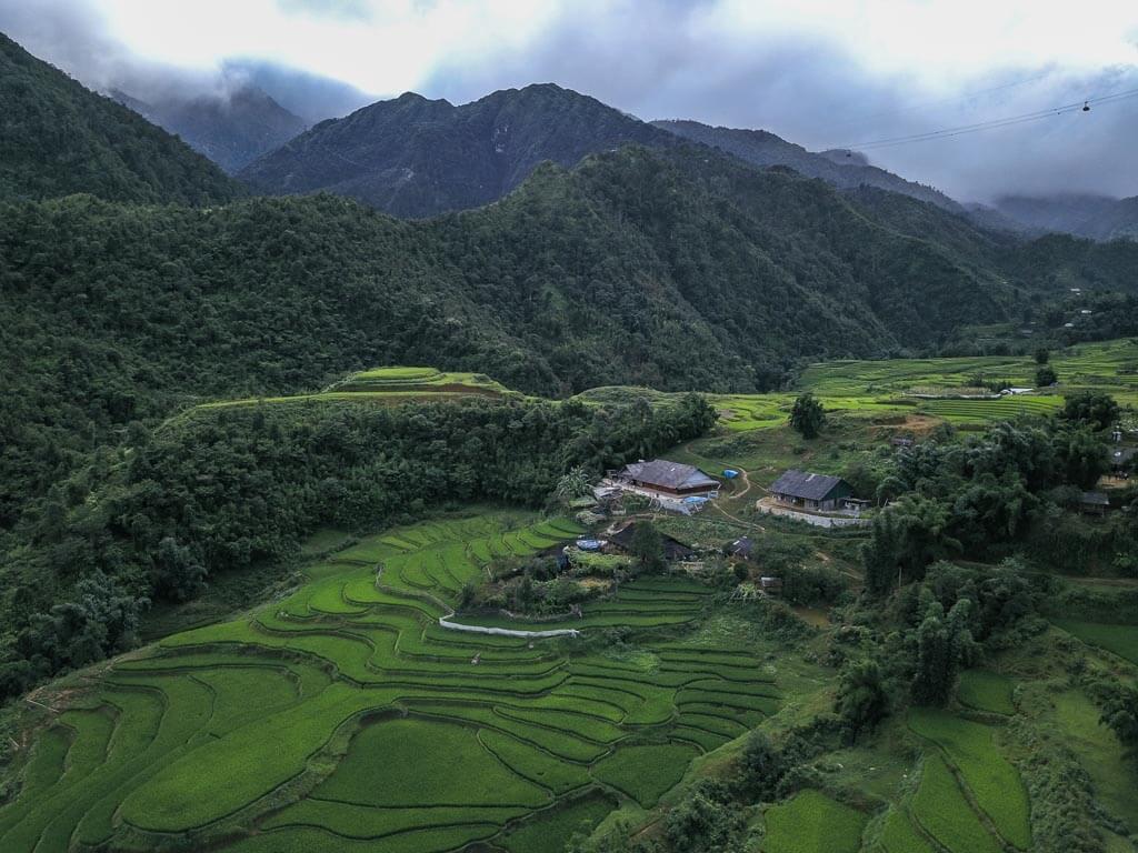 Le vallate di Lao Cai viste dal Drone