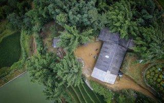 La nostra capanna vista dal Drone