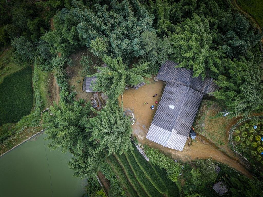 Lao Cai - la nostra capanna vista dal Drone