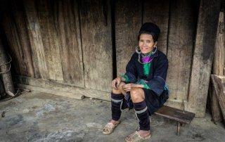 Donna della tribù Black Hmong