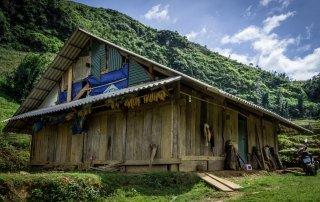 Un'abitazione delle minoranze etniche di sapa