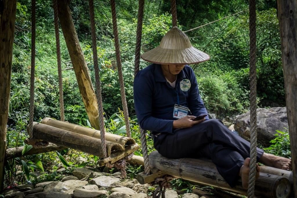 Vietnamita col cappello