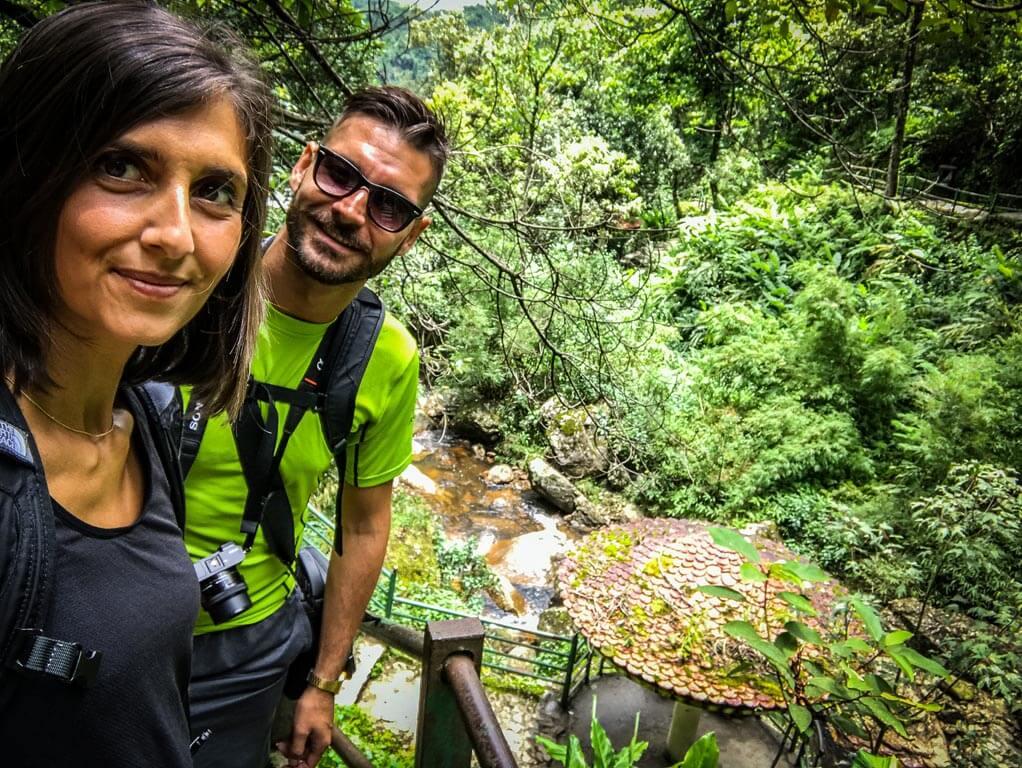 Selfie nella foresta