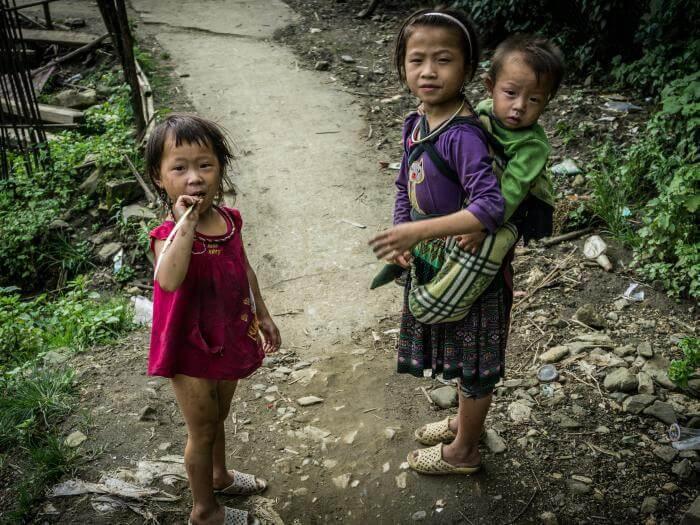 Bimbe Hmong a Sapa