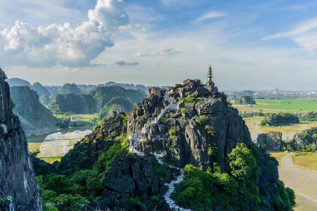 Vietnam del nord - Mua Cave, panorama dall'alto