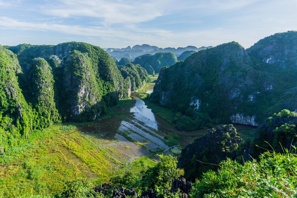Vietnam del nord - panorama dall'alto sulle risaie