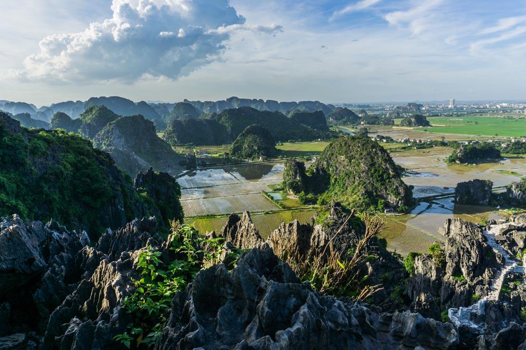 Vietnam del nord - panorama dall'alto