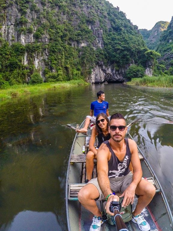 Vietnam del nord - Tam Coc - gita in barca sul fiume