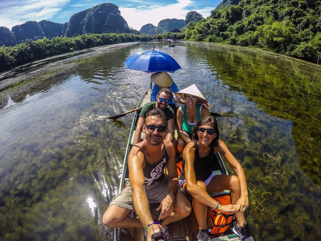 Ninh Binh - sul fiume Trang An
