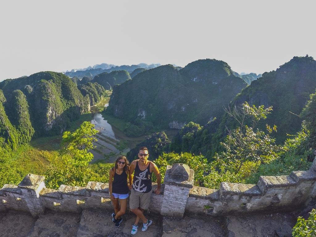 Vietnam del nord - le risaie di Tam Coc viste dall'alto