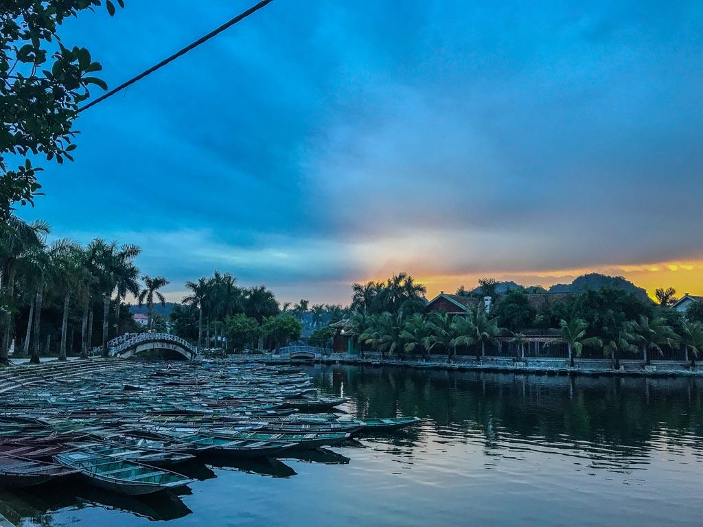 Vietnam del nord - tramonto a Tam Coc