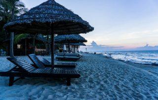 Spiaggia di Cua Dai al tramonto