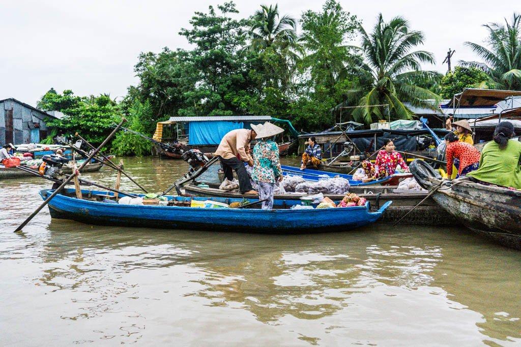 Delta del Mekong - Mercato Phong Dien