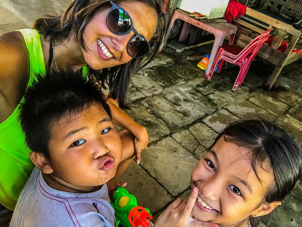 Hoi An - Selfe con i bambini