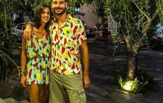 Francesco e Serena vestiti in coordinato