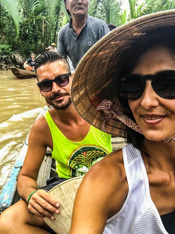 Delta del Mekong - selfie in barca