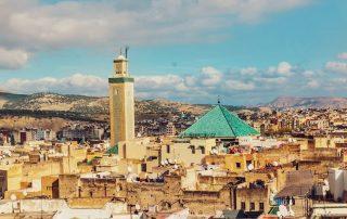 Vista dall'alto della città di Fès