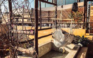 Terrazza sul tetto di un Riad nella città di Fes con amaca