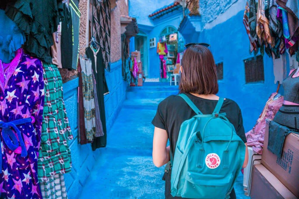Le vie di Chefchaouen la città blu del Marocco