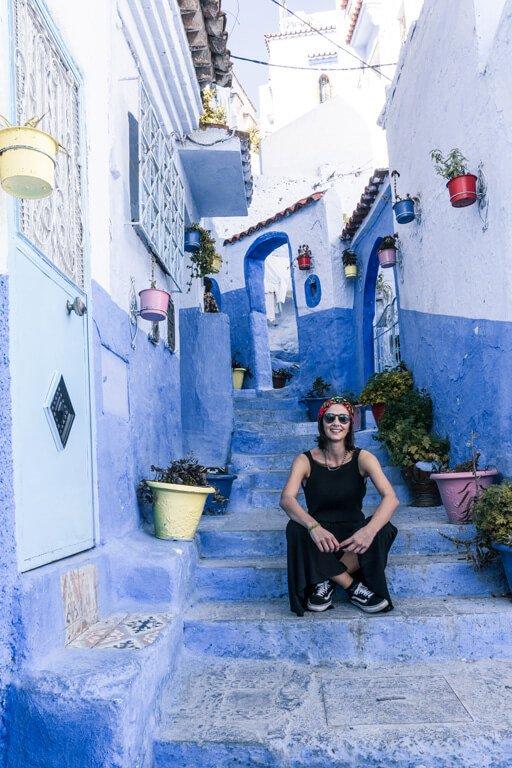Serena a Chefchaouen la città blu del Marocco