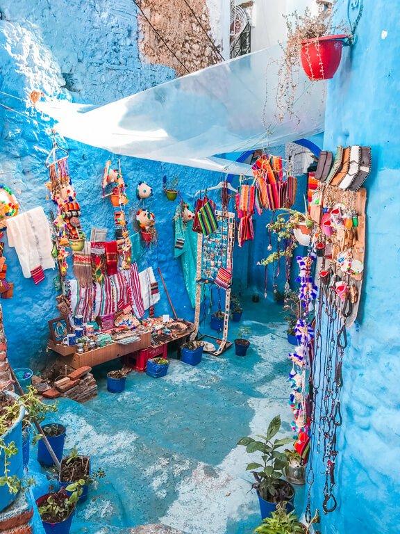 Bancarelle colorate a Chefchaouen