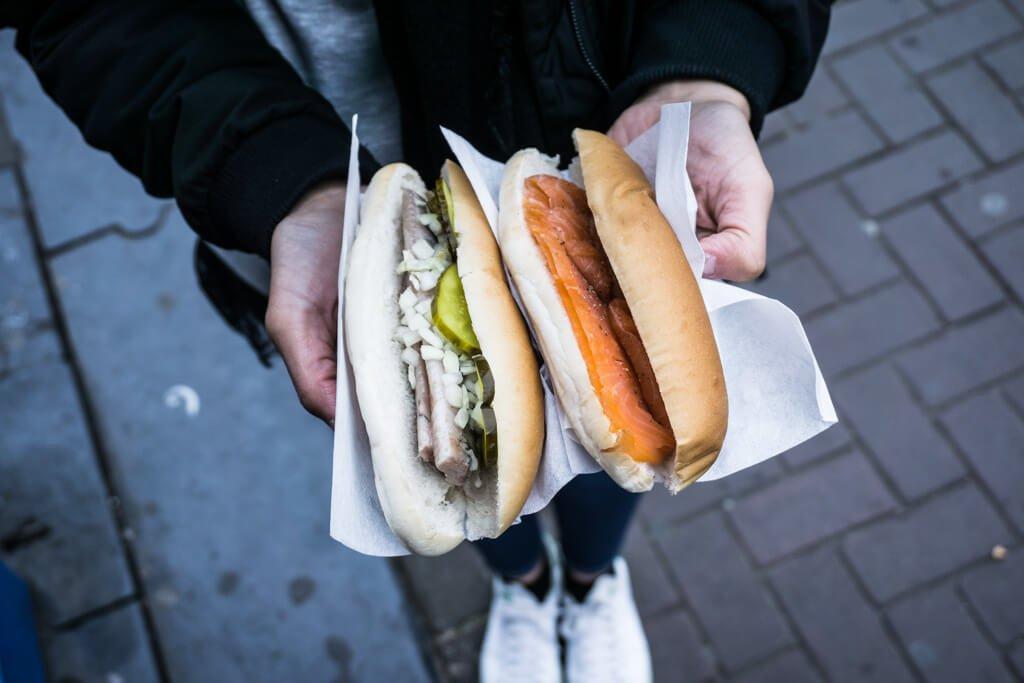 Amsterdam_panini con aringa e salmone