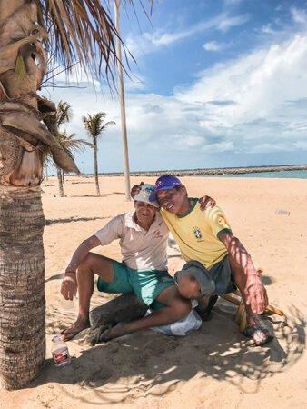 Brasiliani in spiaggi