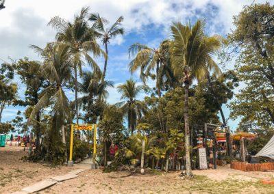 Palme e chioschi sulla spiaggia di Fortaleza