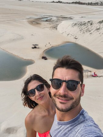 Sulla cima delle dune in attesa dello zipline