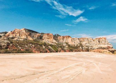 La spiaggia di Praia das Fontes