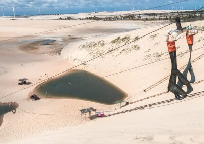 Zip line tra le dune