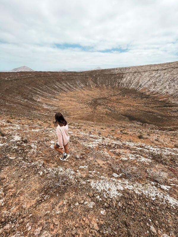 trekking Lanzarote_Caldera Blanca